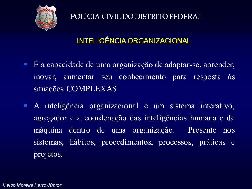 POLÍCIA CIVIL DO DISTRITO FEDERAL Celso Moreira Ferro Júnior Cognição organizacional; Memória organizacional; Aprendizagem organizacional; Comunicação organizacional; Raciocínio organizacional.