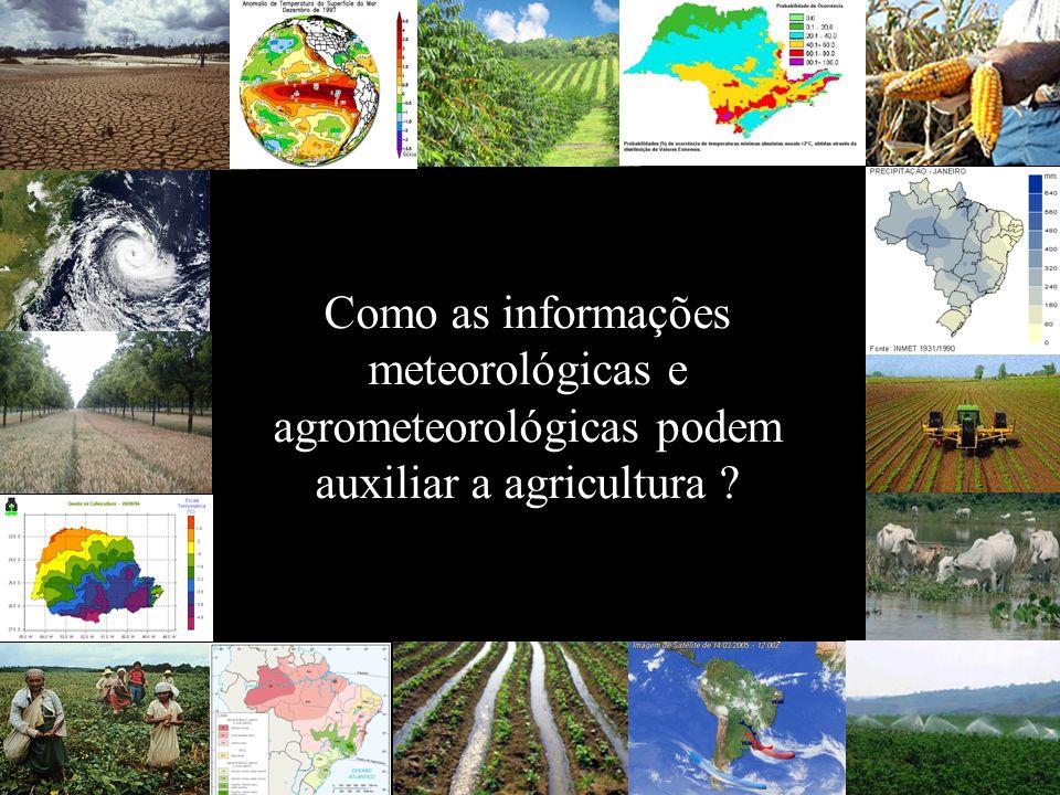 Como as informações meteorológicas e agrometeorológicas podem auxiliar a agricultura ?