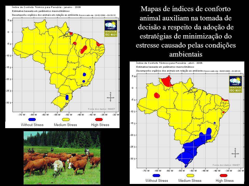 Mapas de índices de conforto animal auxiliam na tomada de decisão a respeito da adoção de estratégias de minimização do estresse causado pelas condiçõ