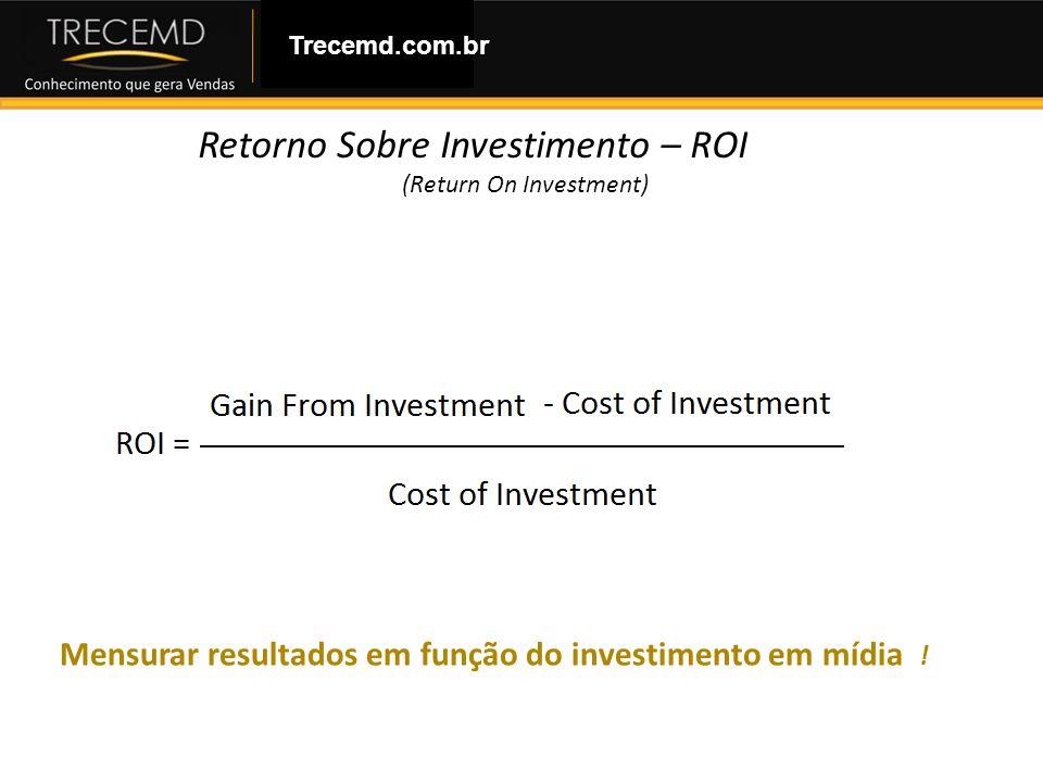 Como Montar uma Loja Virtual Trecemd.com.br Retorno Sobre Investimento – ROI (Return On Investment) Mensurar resultados em função do investimento em m