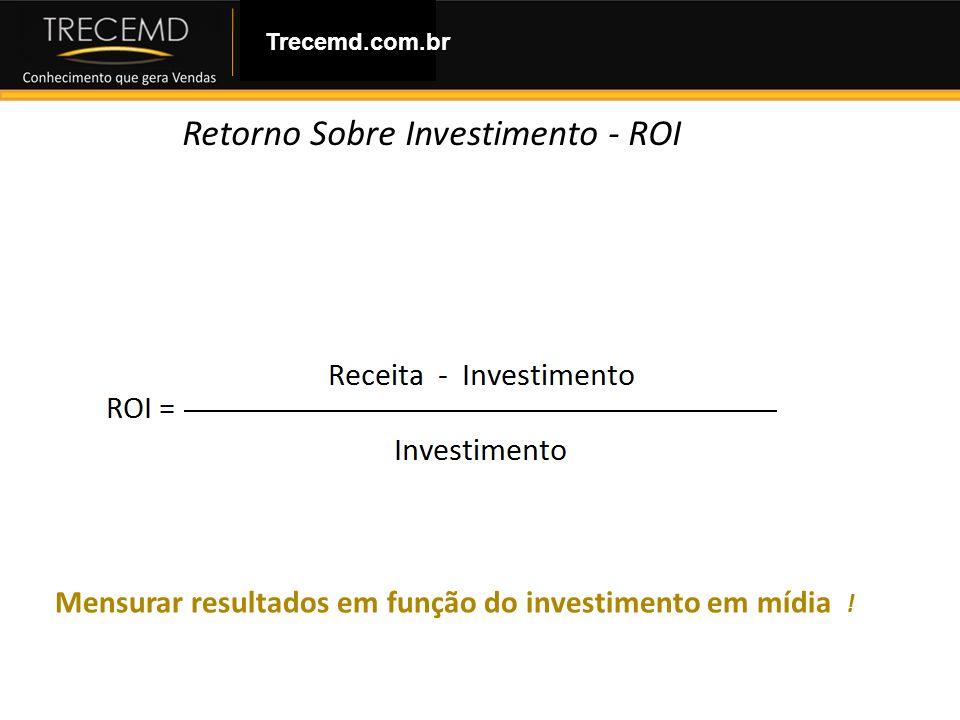 Como Montar uma Loja Virtual Mensurar resultados em função do investimento em mídia ! Trecemd.com.br Retorno Sobre Investimento - ROI