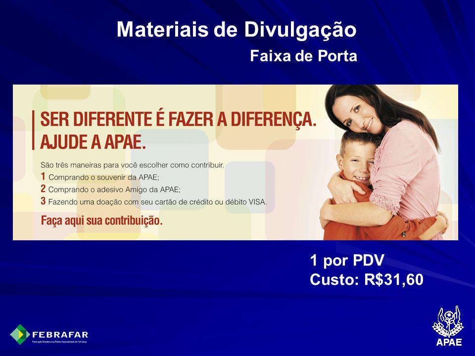 Materiais de Divulgação Faixa de Porta 1 por PDV Custo: R$31,60
