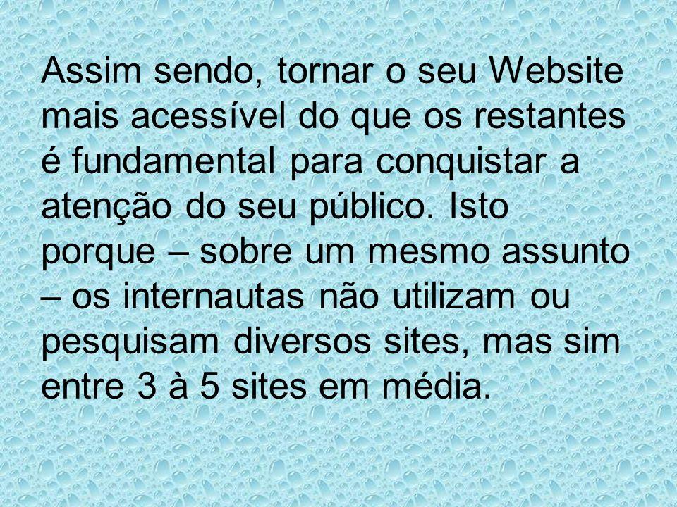 Assim sendo, tornar o seu Website mais acessível do que os restantes é fundamental para conquistar a atenção do seu público. Isto porque – sobre um me