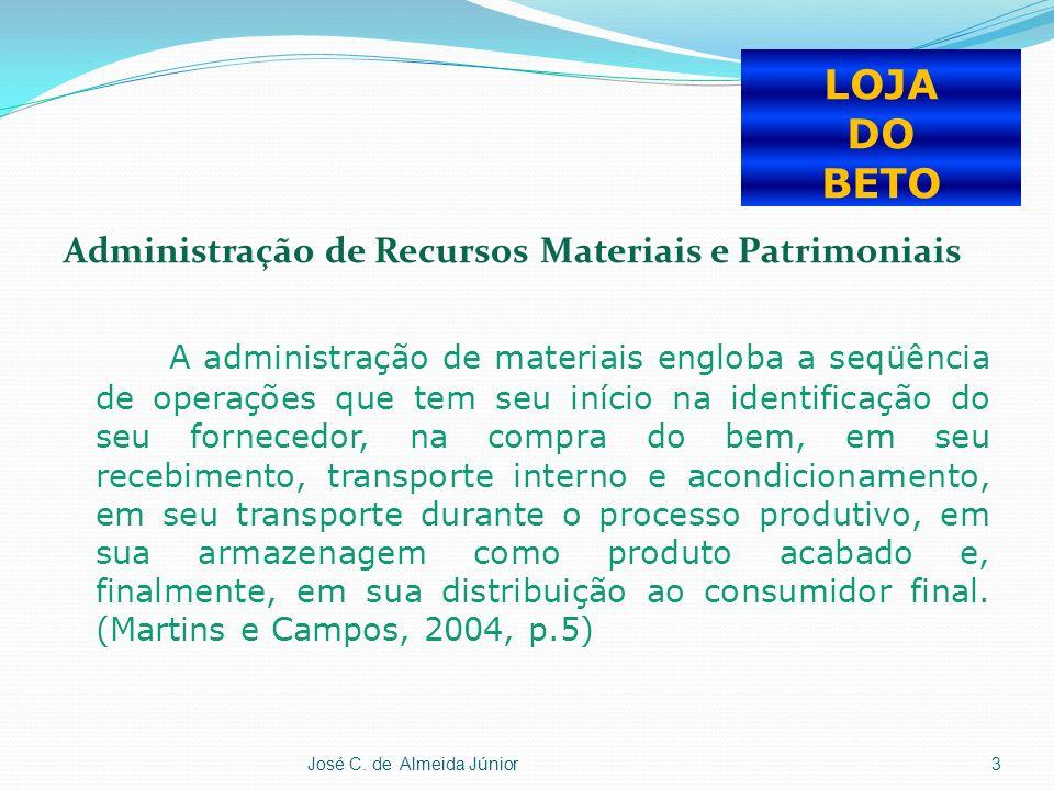 José C. de Almeida Júnior14 LOJA DO BETO