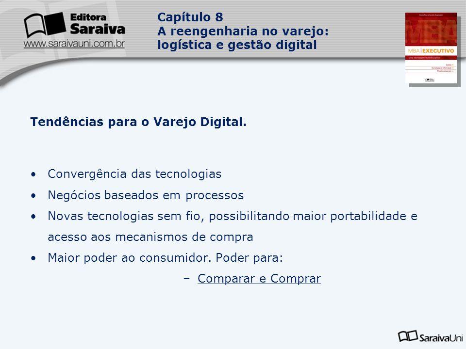 Capítulo 8 A reengenharia no varejo: logística e gestão digital Tendências para o Varejo Digital.