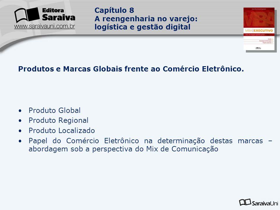 Capítulo 8 A reengenharia no varejo: logística e gestão digital Produtos e Marcas Globais frente ao Comércio Eletrônico.