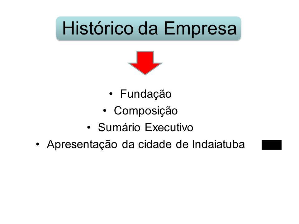 Histórico da Empresa Fundação Composição Sumário Executivo Apresentação da cidade de Indaiatuba