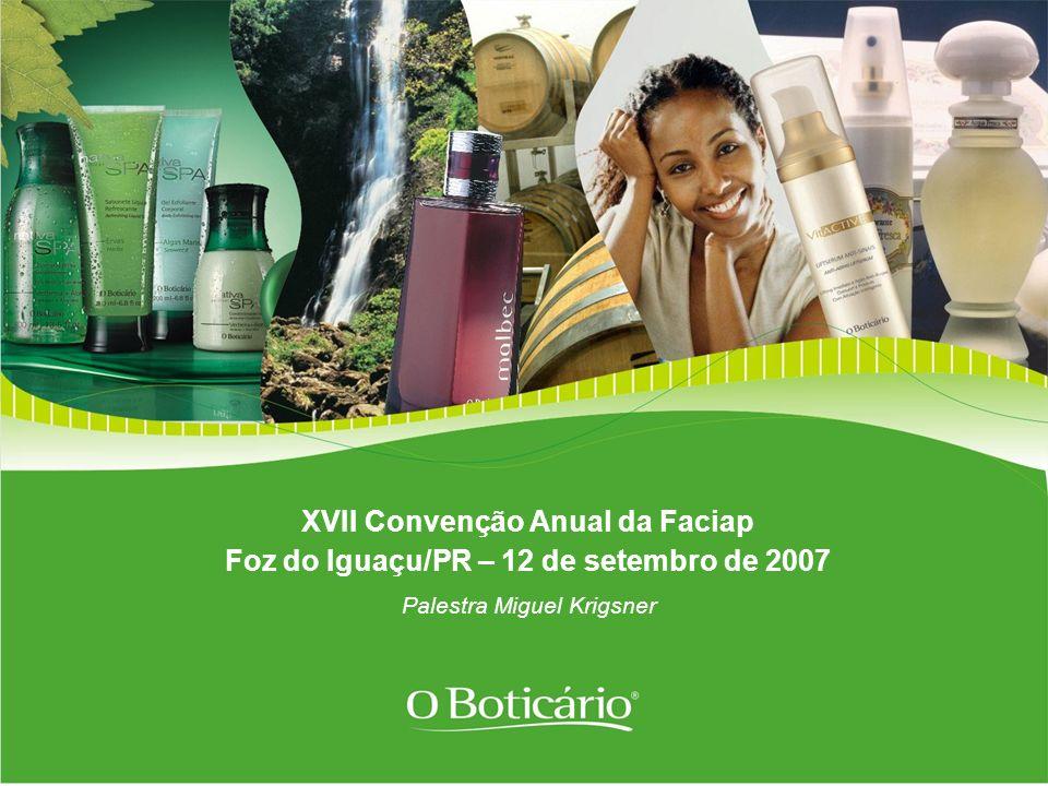 XVII Convenção Anual da Faciap Foz do Iguaçu/PR – 12 de setembro de 2007 Palestra Miguel Krigsner