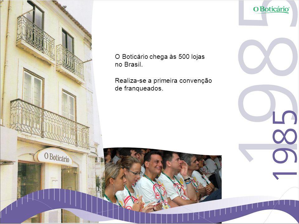 O Boticário chega às 500 lojas no Brasil. Realiza-se a primeira convenção de franqueados.