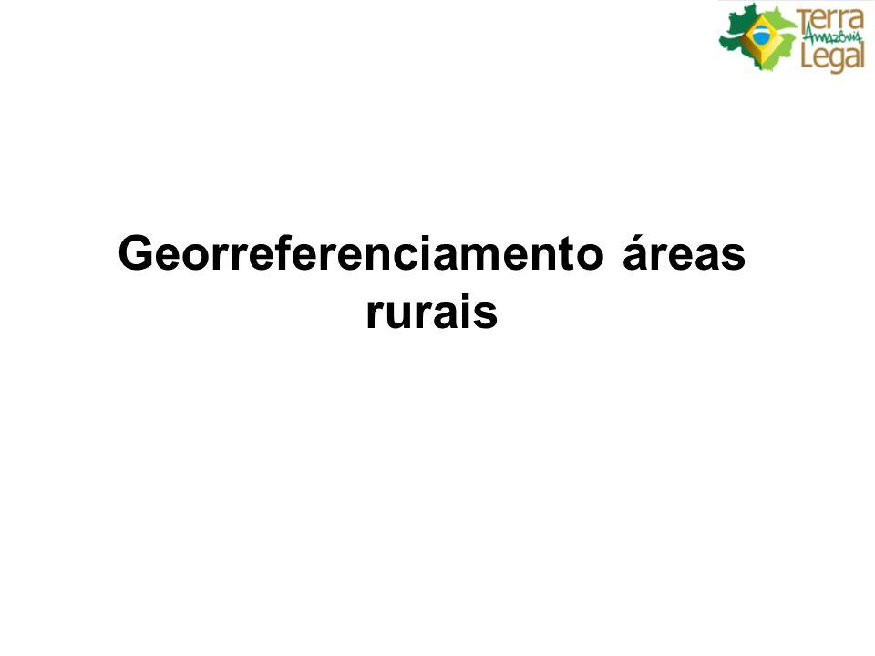 Georreferenciamento áreas rurais