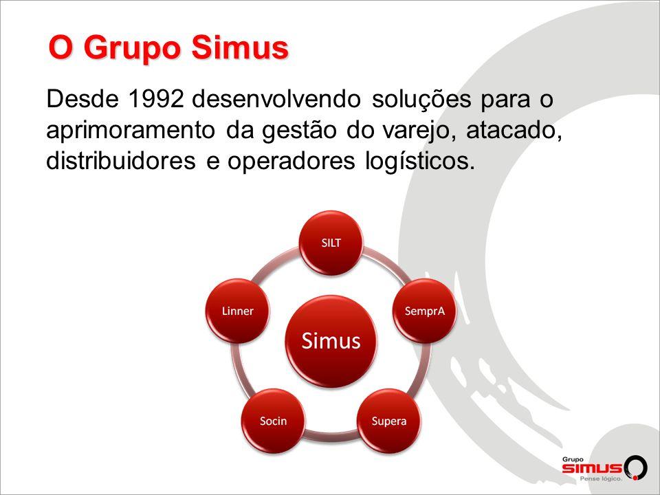 O Grupo Simus Desde 1992 desenvolvendo soluções para o aprimoramento da gestão do varejo, atacado, distribuidores e operadores logísticos.