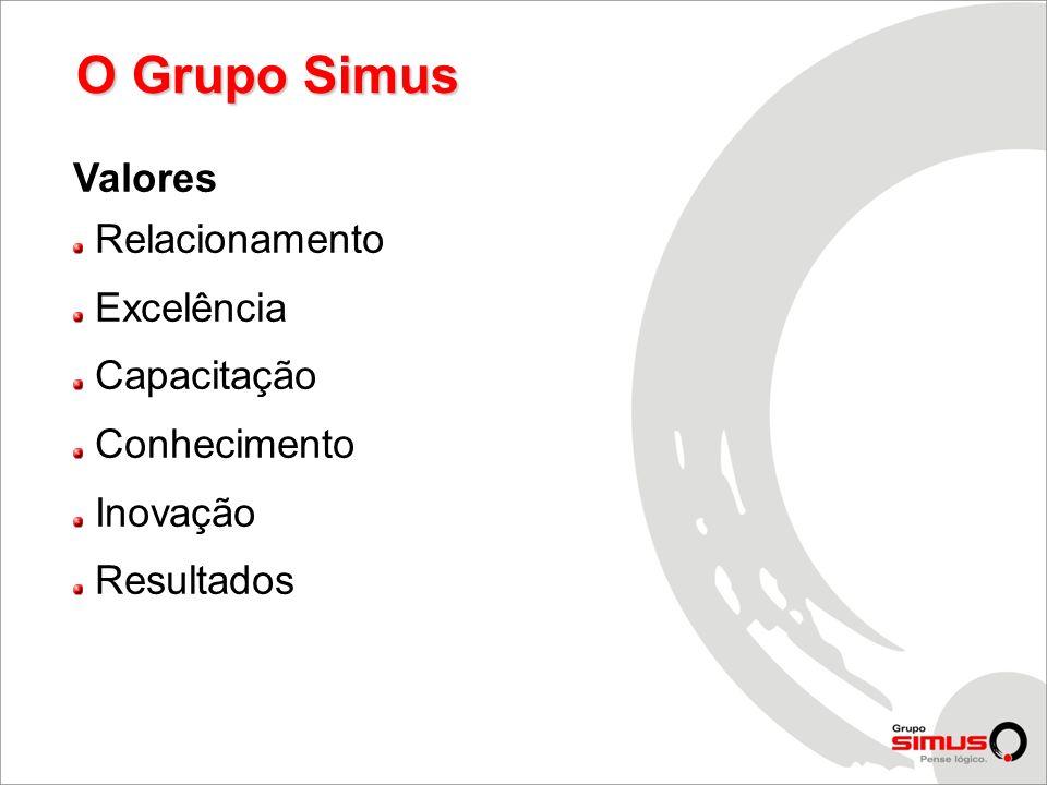 Valores Relacionamento Excelência Capacitação Conhecimento Inovação Resultados O Grupo Simus
