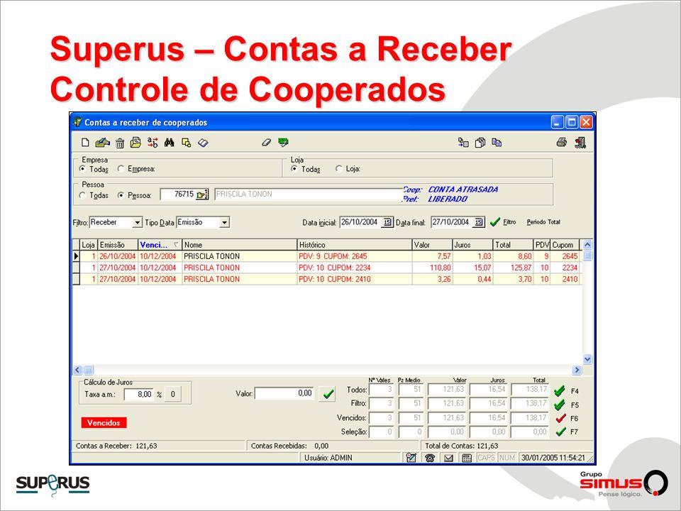 Superus – Contas a Receber Controle de Cooperados