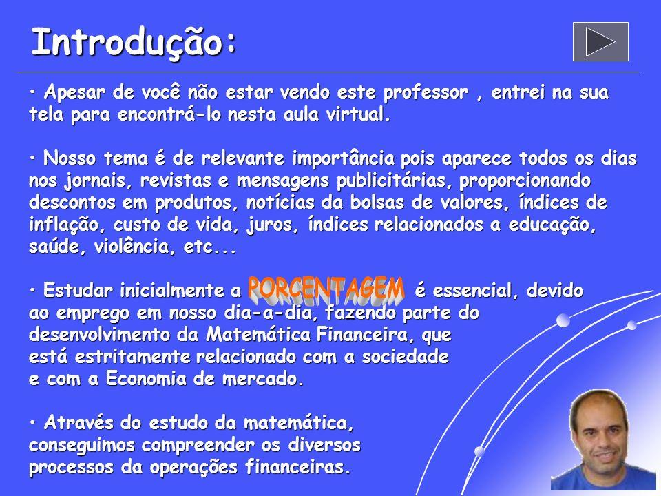 Aula Virtual do Super Bolinha Apresenta: % PORCENTAGEM % % Profº: Álvaro