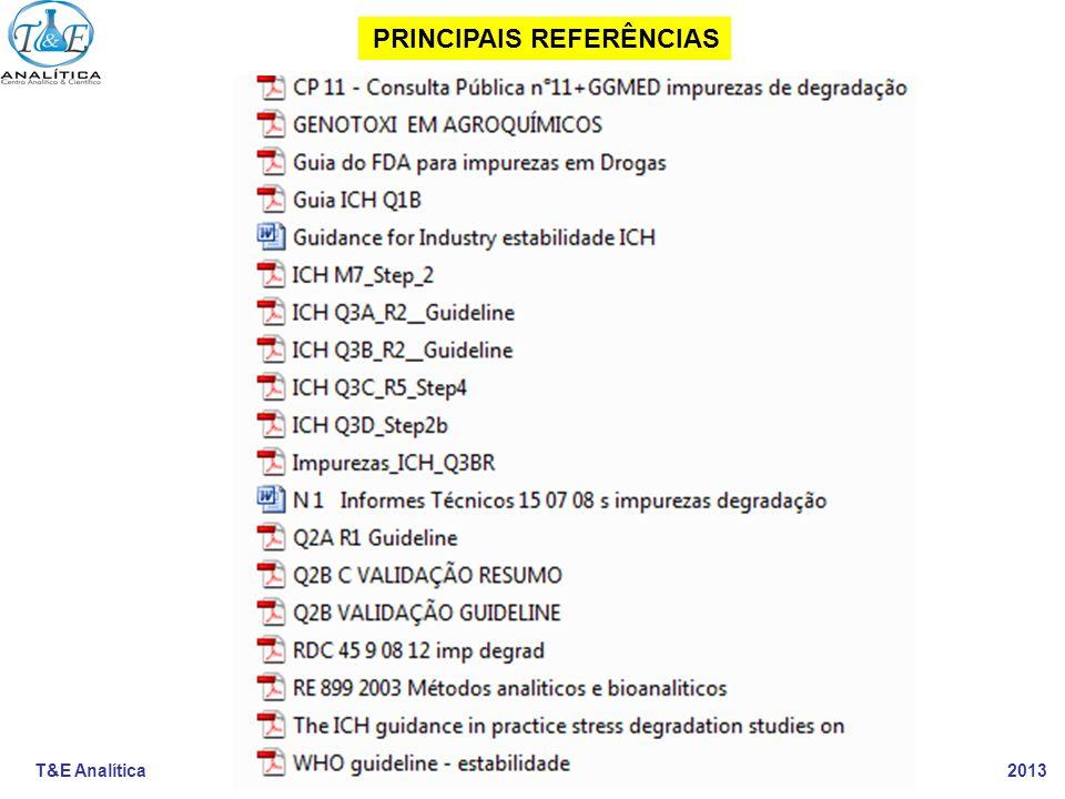 T&E Analítica 2013 PRINCIPAIS REFERÊNCIAS