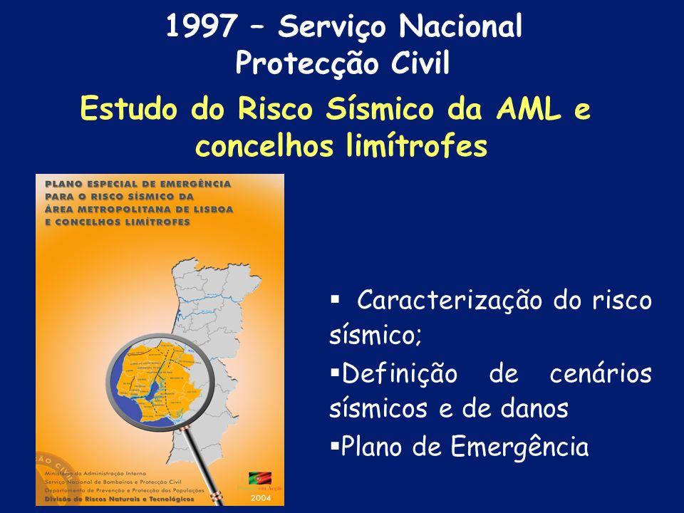 Capital; Área densamente povoada; Grande concentração de actividades: económicas políticas sociais Estudo do Risco Sísmico da AML e concelhos limítrof
