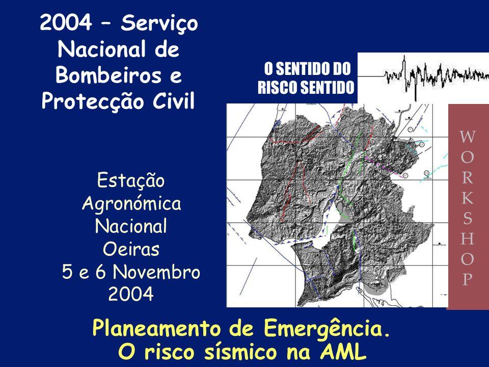 Instalações Desportivas Plano Especial de Emergência do Risco Sísmico no Concelho de Lisboa 2003 – Câmara Municipal de Lisboa (Serviço Municipal de Pr