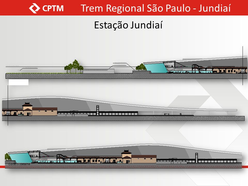Corte 1 - detalhe Trem Regional São Paulo - Jundiaí Estação Jundiaí