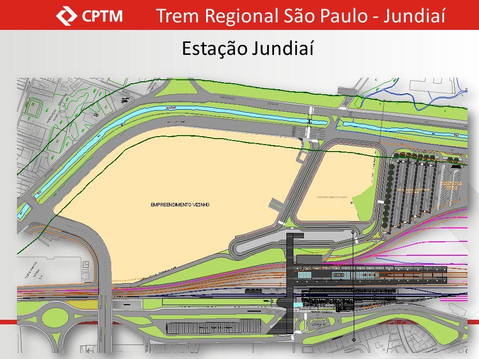 Detalhe Corte 3 Trem Regional São Paulo - Jundiaí Estação Jundiaí