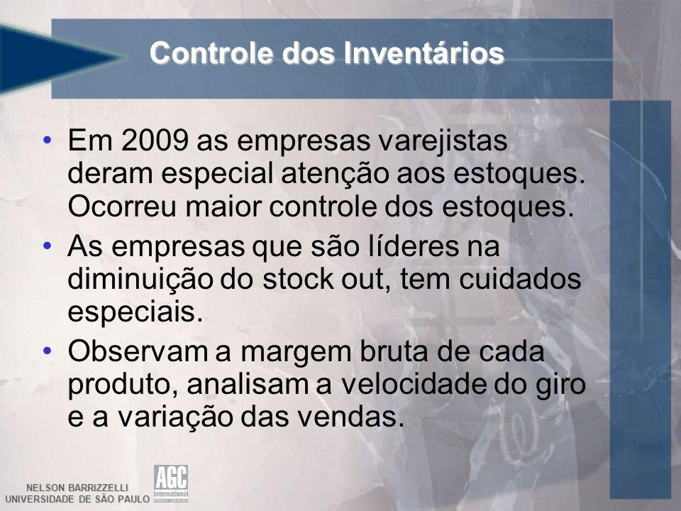 NELSON BARRIZZELLI UNIVERSIDADE DE SÃO PAULO Controle dos Inventários Em 2009 as empresas varejistas deram especial atenção aos estoques.