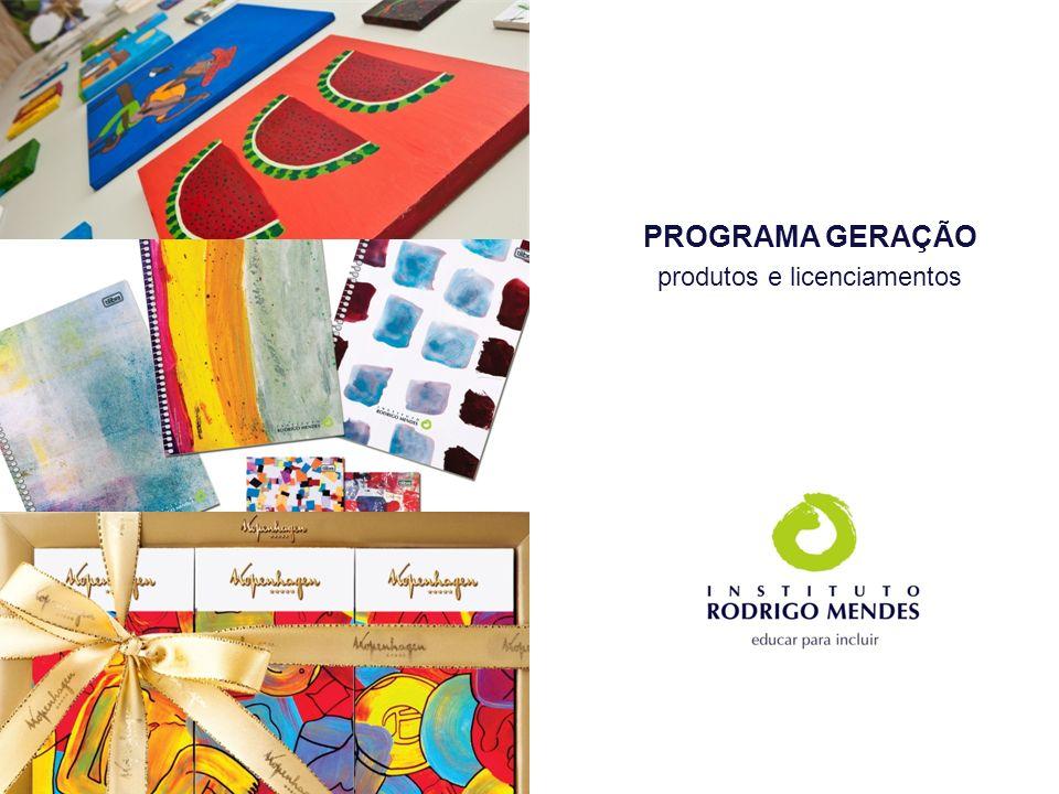 PROGRAMA GERAÇÃO produtos e licenciamentos