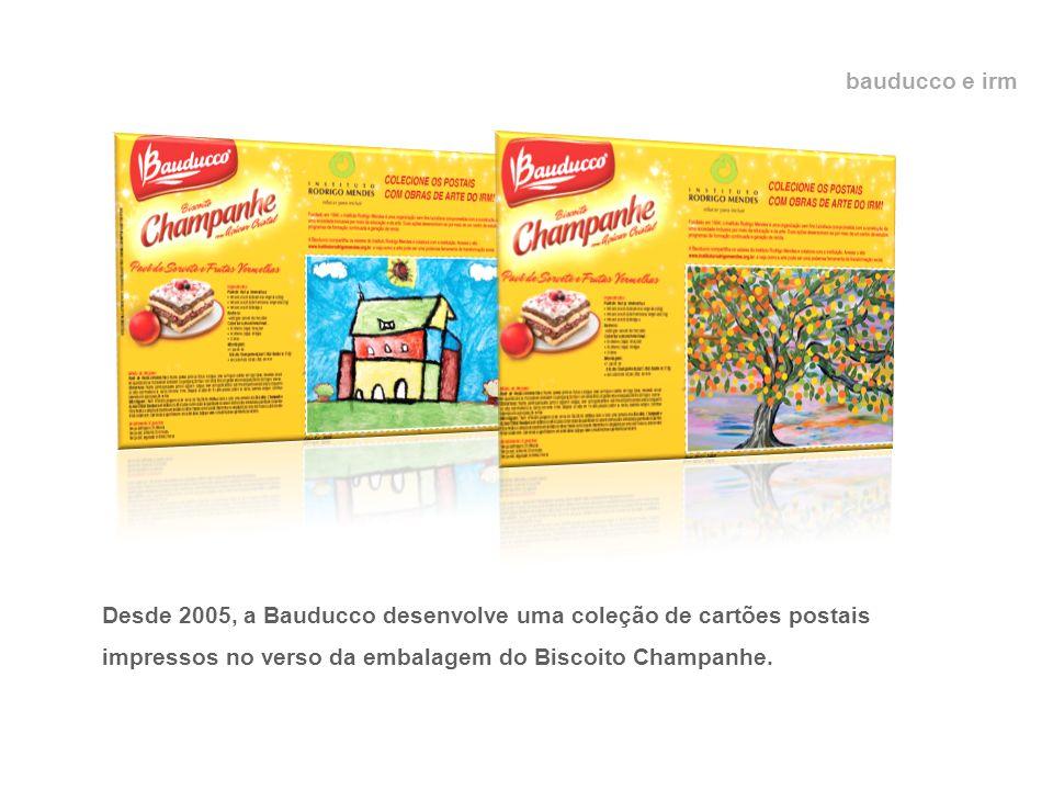 bauducco e irm Desde 2005, a Bauducco desenvolve uma coleção de cartões postais impressos no verso da embalagem do Biscoito Champanhe.