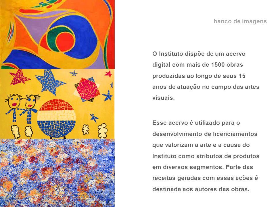 banco de imagens O Instituto dispõe de um acervo digital com mais de 1500 obras produzidas ao longo de seus 15 anos de atuação no campo das artes visuais.