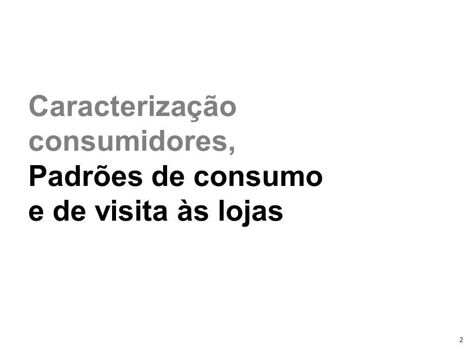 2 Caracterização consumidores, Padrões de consumo e de visita às lojas