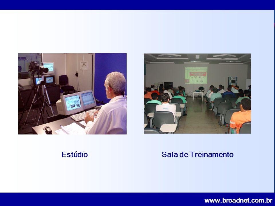 www.broadnet.com.br TV Interativa Corporativa Via Satélite CANAL INTERATIVO GERDAU 73 pontos no todo Brasil 01 ponto na Bolívia Agilizar fluxo informações estratégicas e operacionais da Matriz com suas Filiais.