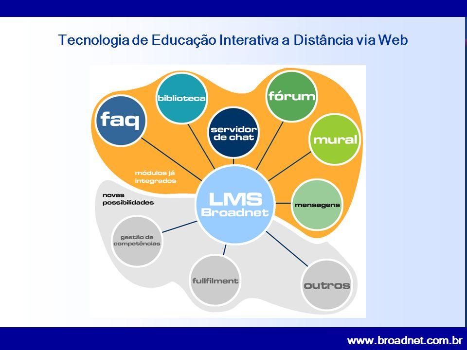 www.broadnet.com.br Tecnologia de Educação Interativa a Distância via Web