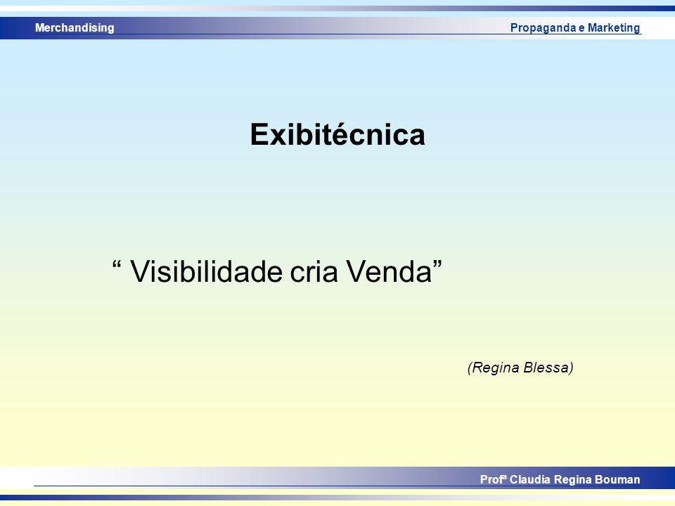 Merchandising Profª Claudia Regina Bouman Propaganda e Marketing Exibitécnica Visibilidade cria Venda (Regina Blessa)