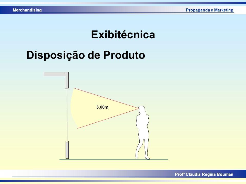 Merchandising Profª Claudia Regina Bouman Propaganda e Marketing Exibitécnica Disposição de Produto 3,00m