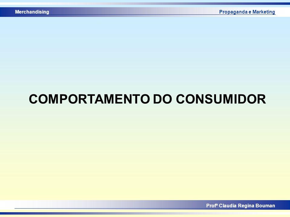 Merchandising Profª Claudia Regina Bouman Propaganda e Marketing COMPORTAMENTO DO CONSUMIDOR