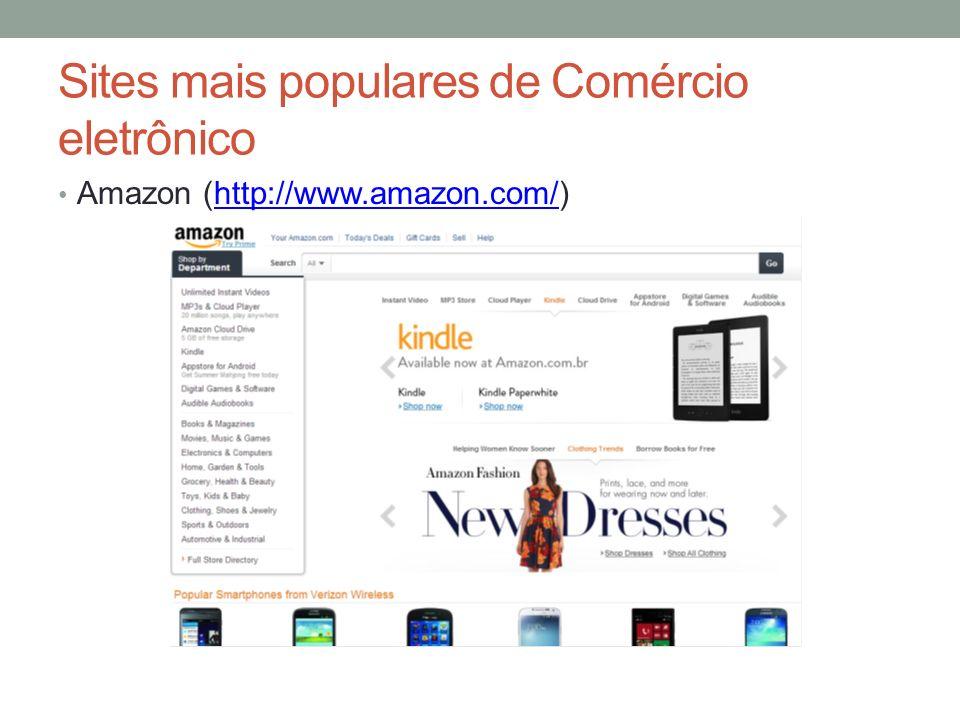 Sites mais populares de Comércio eletrônico Amazon (http://www.amazon.com/)http://www.amazon.com/