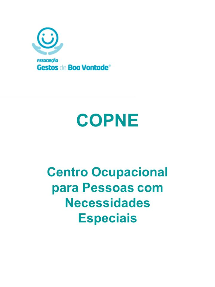 COPNE Centro Ocupacional para Pessoas com Necessidades Especiais