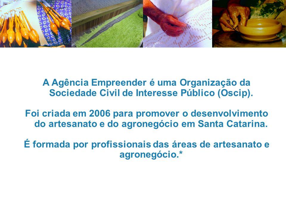 A Agência Empreender é uma Organização da Sociedade Civil de Interesse Público (Oscip). Foi criada em 2006 para promover o desenvolvimento do artesana