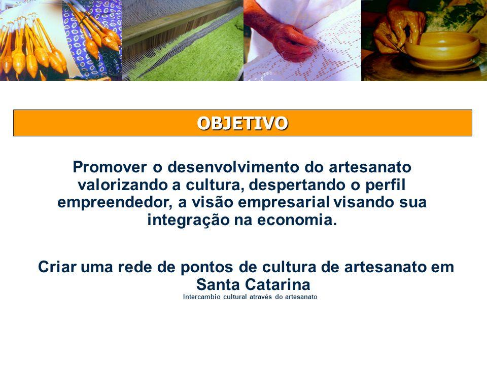 Promover o desenvolvimento do artesanato valorizando a cultura, despertando o perfil empreendedor, a visão empresarial visando sua integração na econo