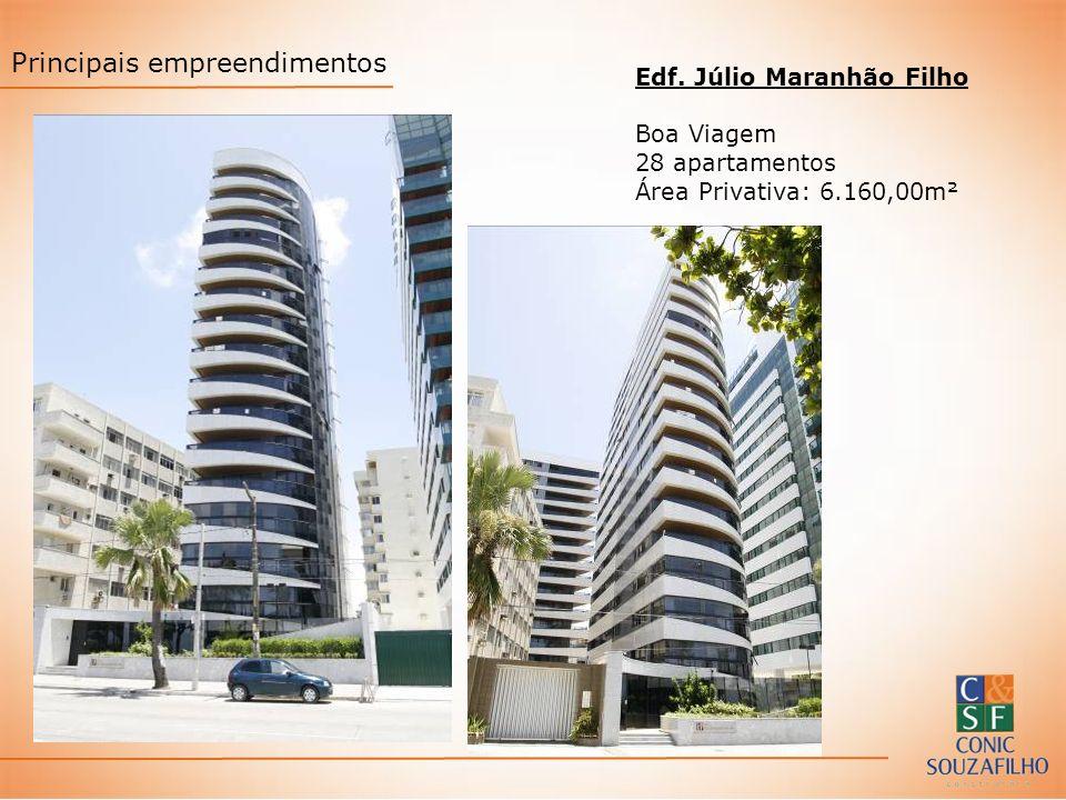 Edf. Júlio Maranhão Filho Boa Viagem 28 apartamentos Área Privativa: 6.160,00m² Principais empreendimentos
