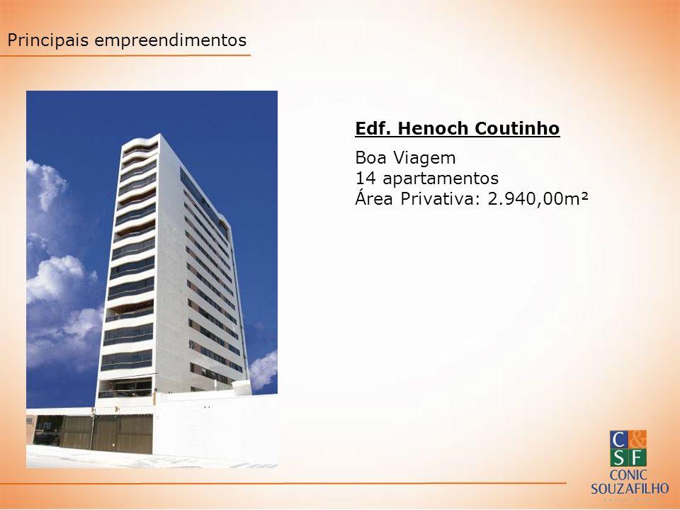 Edf. Henoch Coutinho Boa Viagem 14 apartamentos Área Privativa: 2.940,00m² Principais empreendimentos