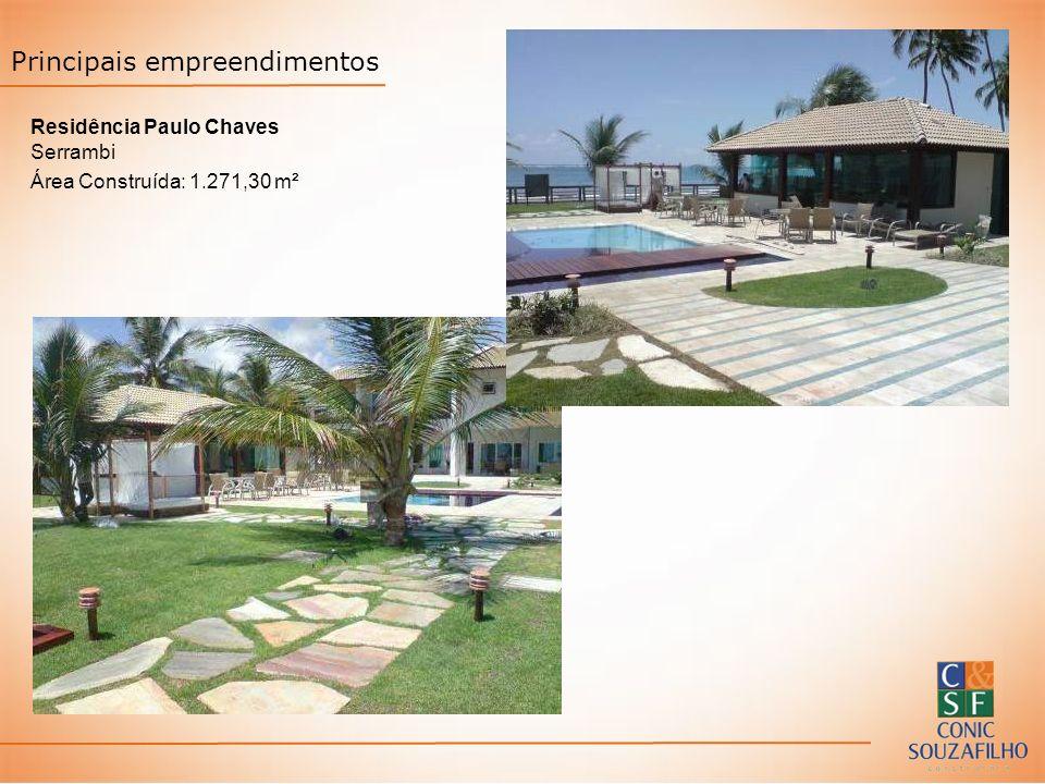 Residência Paulo Chaves Serrambi Área Construída: 1.271,30 m² Principais empreendimentos