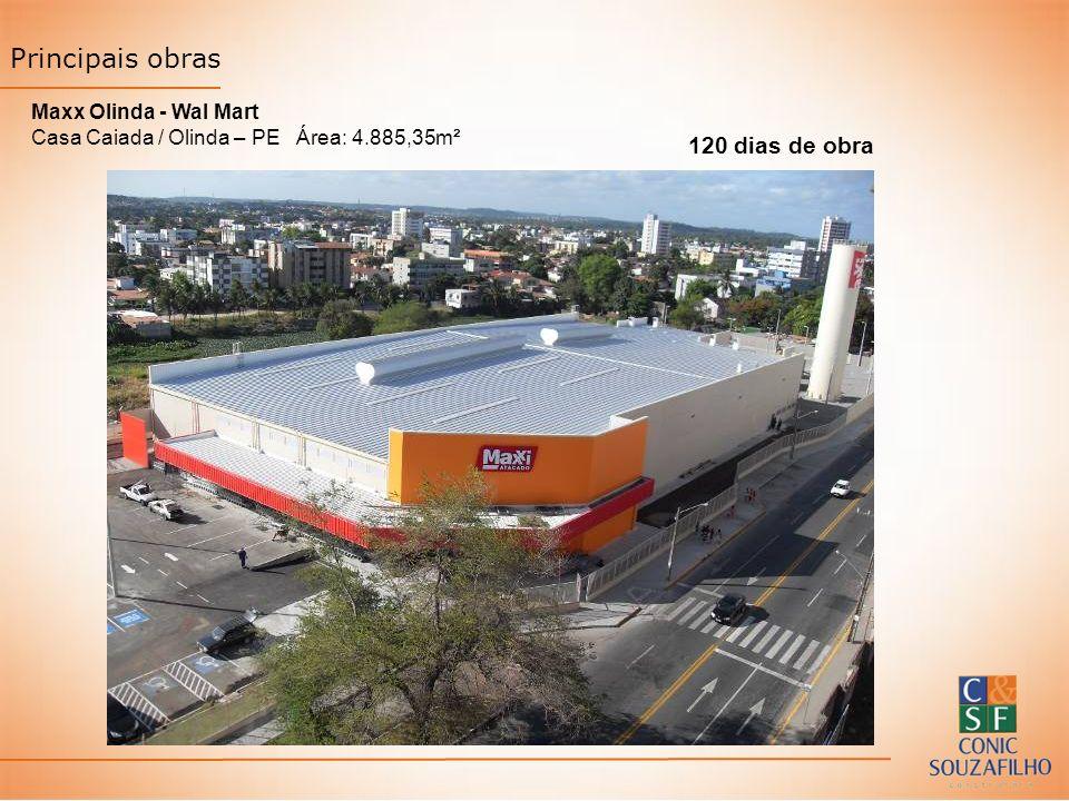 Maxx Olinda - Wal Mart Casa Caiada / Olinda – PE Área: 4.885,35m² 120 dias de obra Principais obras