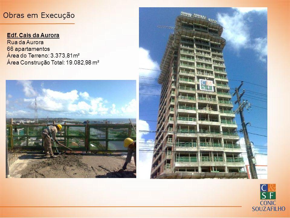 Edf. Cais da Aurora Rua da Aurora 66 apartamentos Área do Terreno: 3.373,81m² Área Construção Total: 19.082,98 m² Obras em Execução