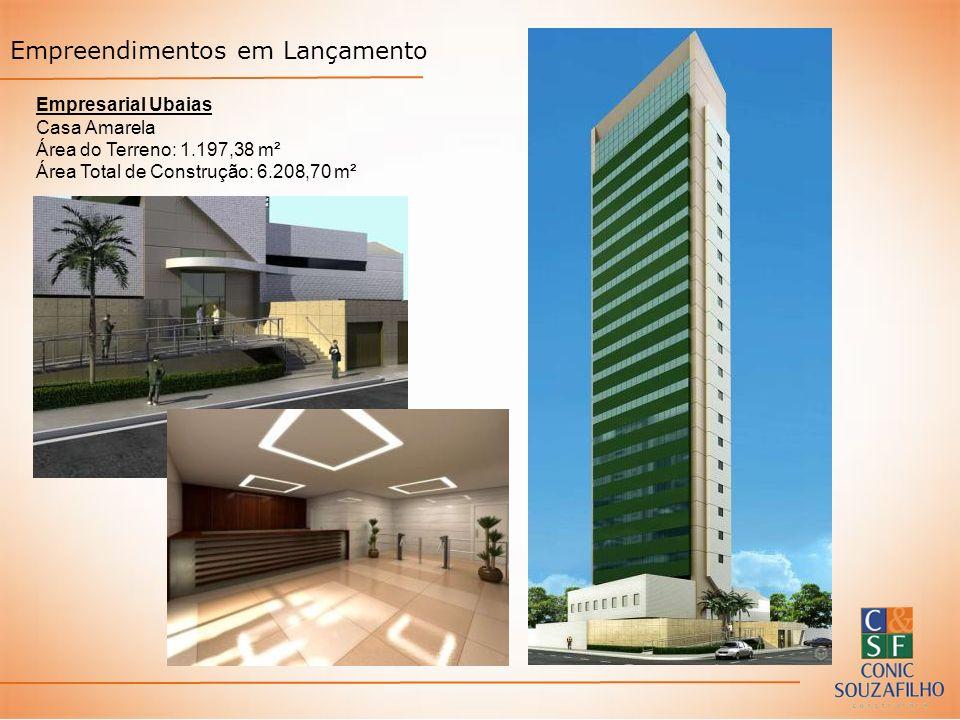 Empreendimentos em Lançamento Empresarial Ubaias Casa Amarela Área do Terreno: 1.197,38 m² Área Total de Construção: 6.208,70 m²