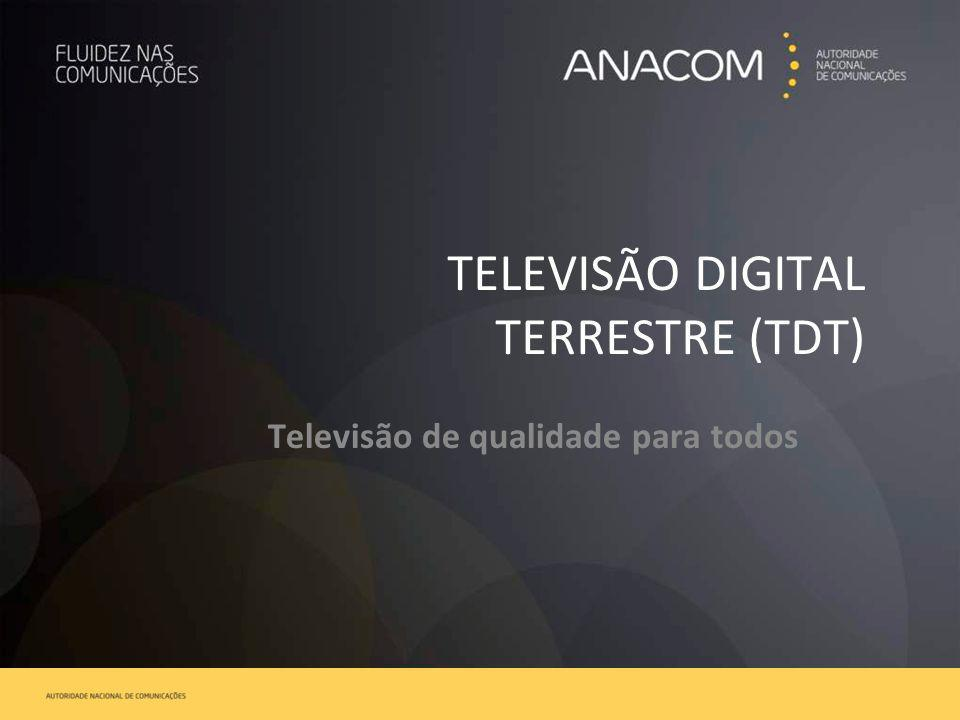TELEVISÃO DIGITAL TERRESTRE (TDT) Televisão de qualidade para todos