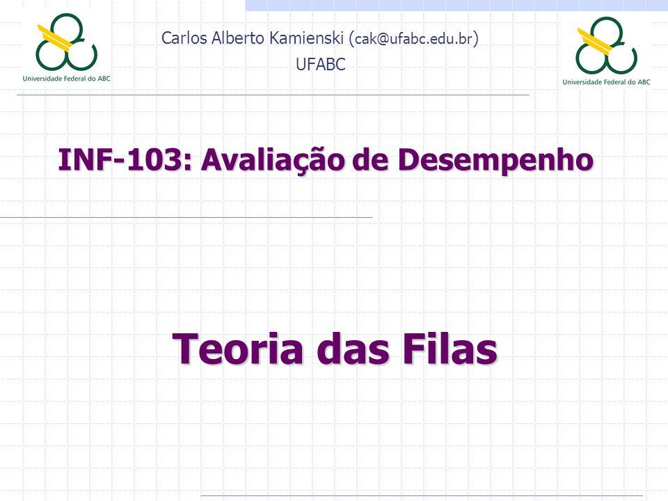 INF-103: Avaliação de Desempenho Carlos Alberto Kamienski ( cak@ufabc.edu.br ) UFABC Teoria das Filas