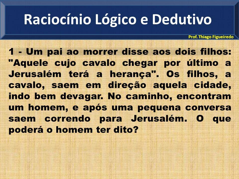 Prof. Thiago Figueiredo 1 - Um pai ao morrer disse aos dois filhos: