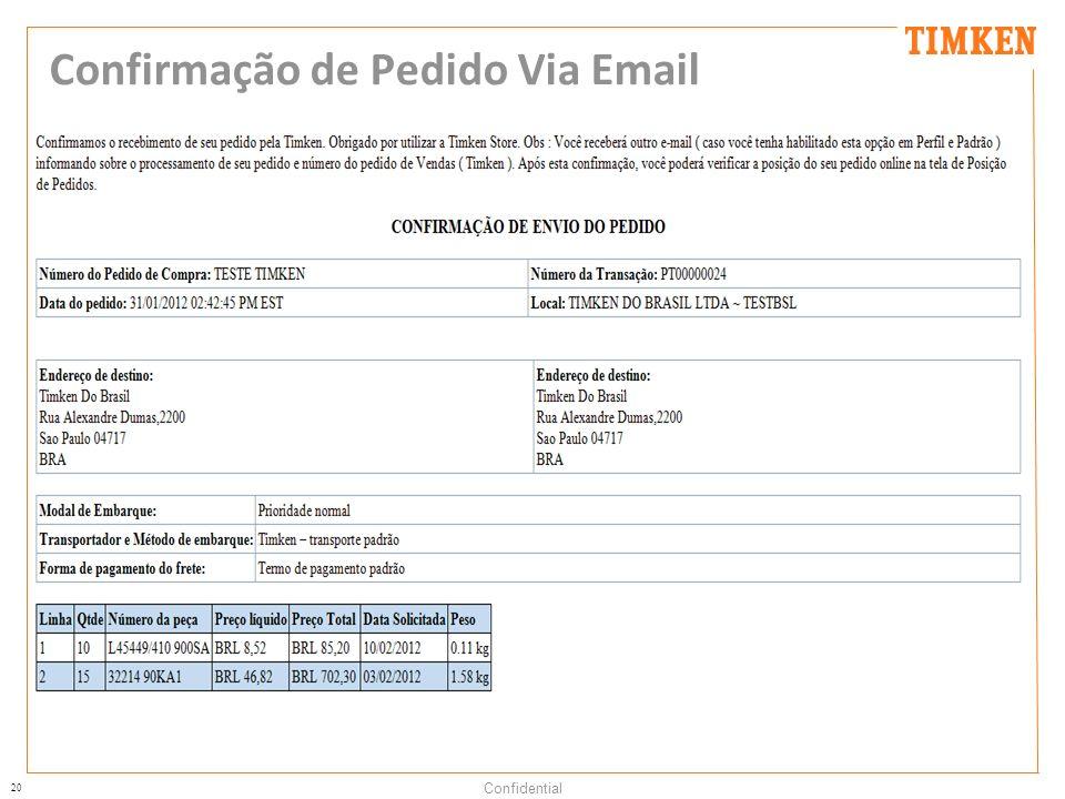 20 Confidential Confirmação de Pedido Via Email