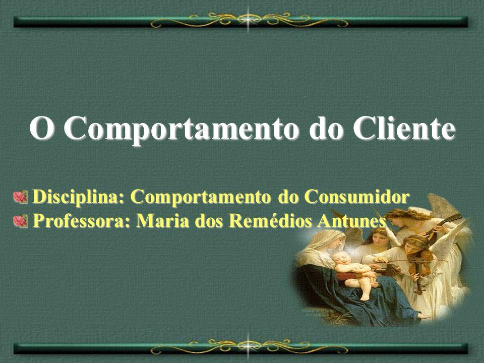 O Comportamento do Cliente Disciplina: Comportamento do Consumidor Professora: Maria dos Remédios Antunes