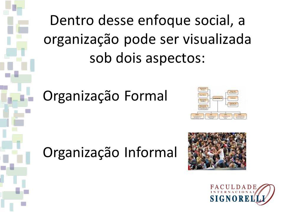 ORGANIZAÇÃO FORMAL baseada em uma divisão racional do trabalho, na diferenciação e integração de seus órgãos e representada através do organograma.