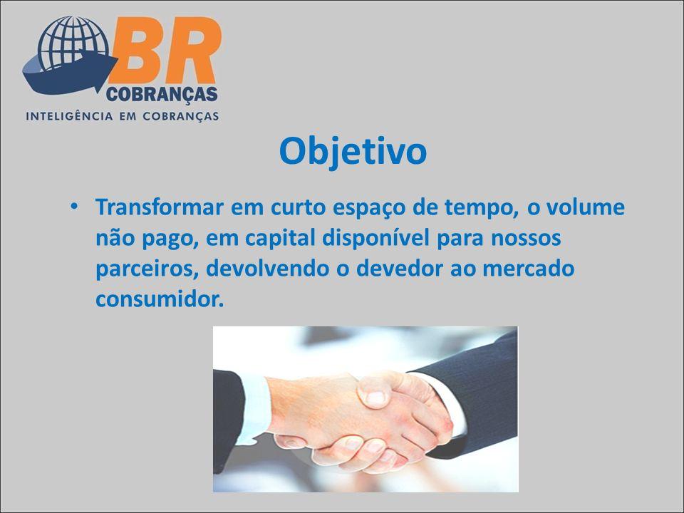 Objetivo Transformar em curto espaço de tempo, o volume não pago, em capital disponível para nossos parceiros, devolvendo o devedor ao mercado consumi